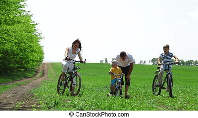 Young Cyclist Learning To Ride
