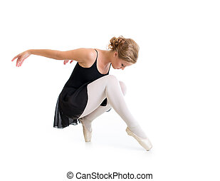 young dancer posing isolated on white