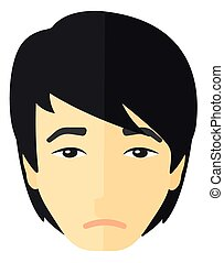 Young depressed man. - Young depressed man vector flat...