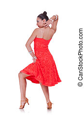 latino dancer in action