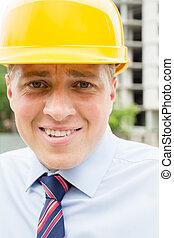 engineer in a helmet