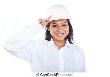 young engineer woman