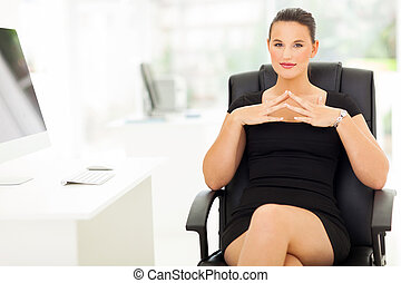 young entrepreneur in her office