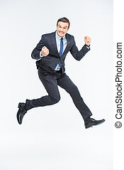 Young excited businessman