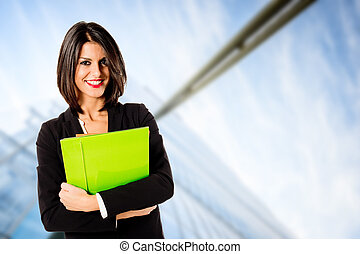 young executive woman at business h