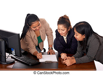 young executive women