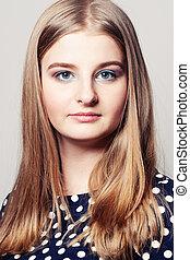 Young Face. Beautiful Girl