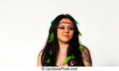 young face with hippie art make up