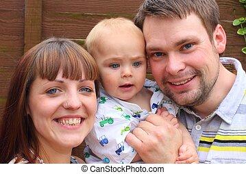 a young family enjoying life
