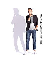 young fashion  man posing