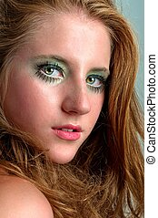 Young fashion model with attractive makeup