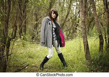 Young fashionable woman