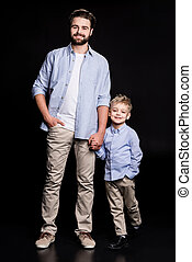 Young father and son