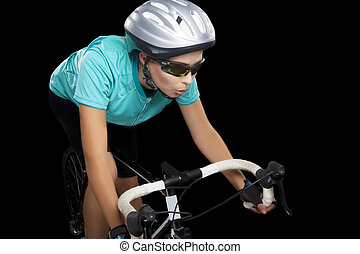 young female bike athlete