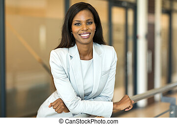 young female corporate worker in office