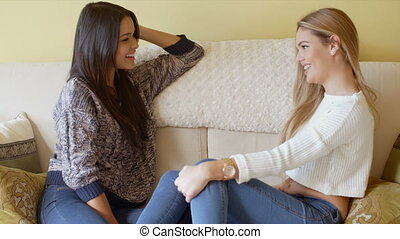 Young female friends spending a relaxing day
