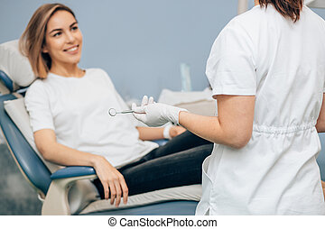 young female listen to doctor's recommendations - young ...