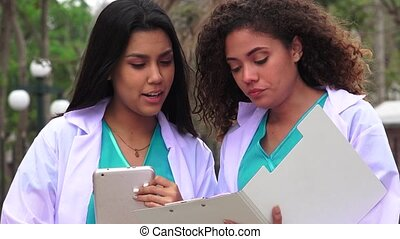 Young Female Nursing Students