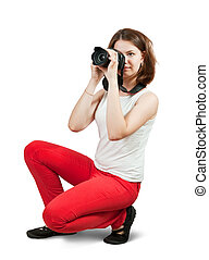 Young female photographer