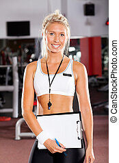young female school sport coach
