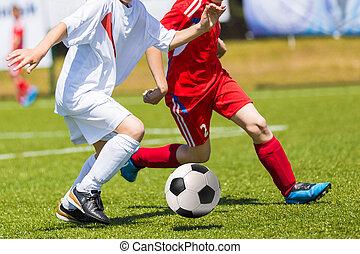 young fiú, játék futball, foci meccs