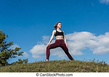 fit woman in sportswear