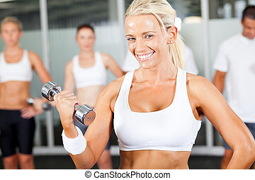 young fitness woman doing exercise