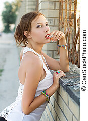 Young flirty woman