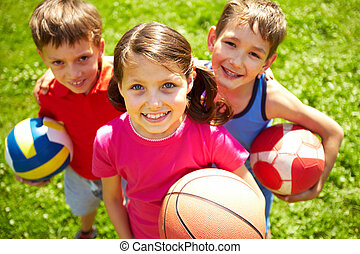 Young football players