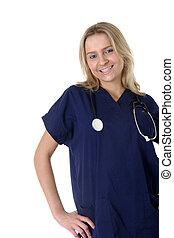 young friendly nurse