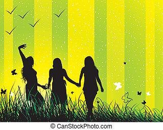 Friends - Young Friends having fun