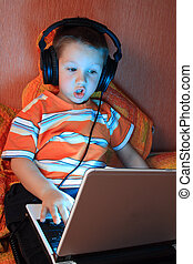 Young gamer with headphones