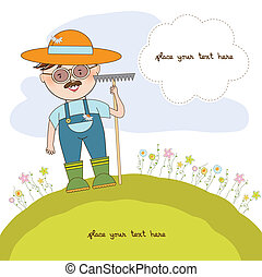 young gardener who cares for flowers