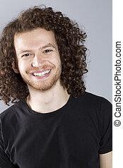 Young ginger man studio portrait