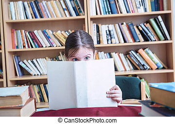 Young Girl Addicted to Reading
