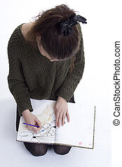Young girl artist