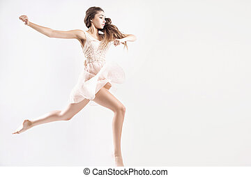 Young girl as a ballet dancer - Young girl as a talented...
