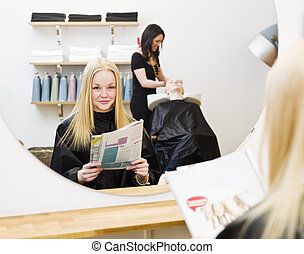 Young Girl at the Beauty Spa