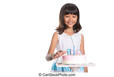 young girl celebrate birthday
