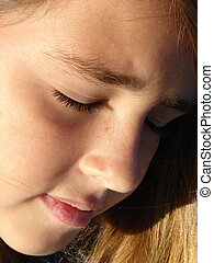 Young Girl Close up