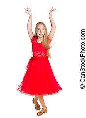 Young girl dances