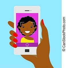 girl doing a selfie