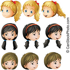 Young girl faces