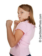 young girl fighting