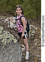 Young Girl Hiking