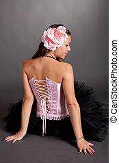 Young girl in beautiful costume
