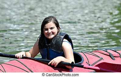 Young Girl in Kayak