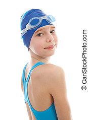 young Girl in swimwear