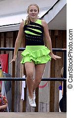 Young Girl Irish Dancing