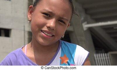 Young Girl Looking Flirty